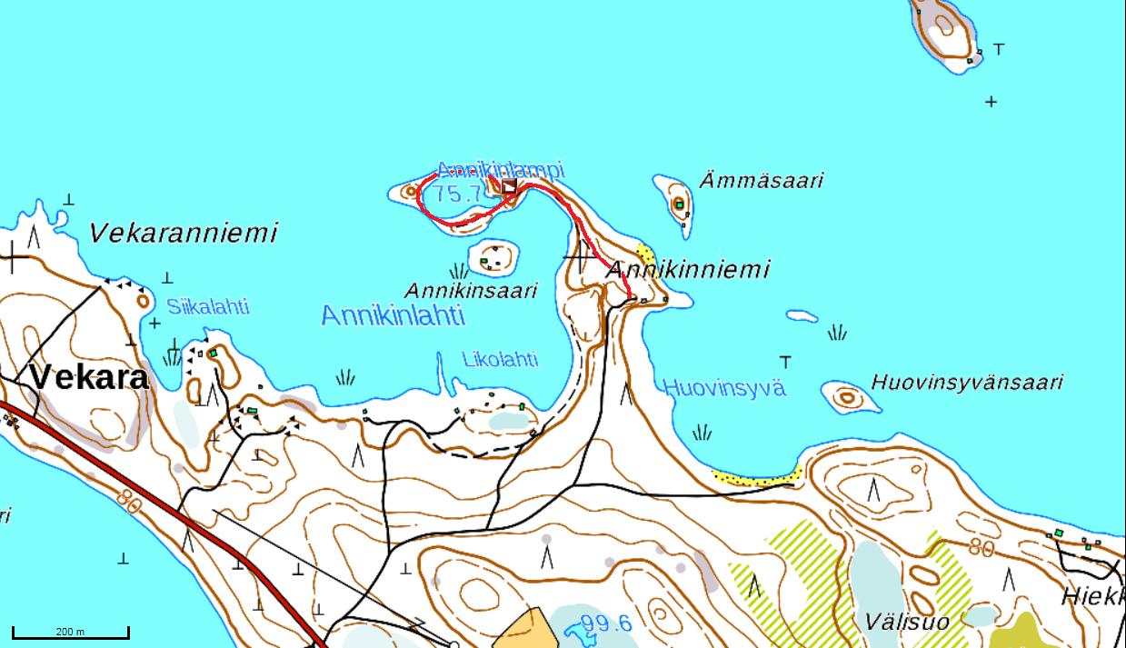 Annikinniemen kartta